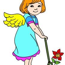angel color pages angel coloring pages free online games drawing for kids kids