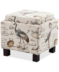Ottoman Pillows Kylee Fabric Accent Storage Ottoman With Pillows Ship