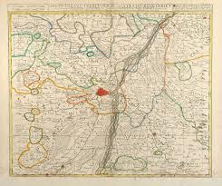 Alsace France Map by Argentorati Territorium Vulgo Strasburger Allard France