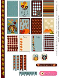 free thanksgiving stickers sler kit for happy planner and ec