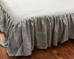 Shabby Chic Bed Skirts by Linen Dust Ruffle Etsy