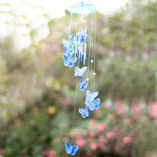 creative butterfly mobile wind chime bell garden ornament gift
