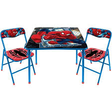 table and chair set walmart marvel spider man 3 piece square table and chair set walmart com