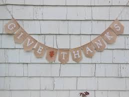 give thanks burlap banner thanksgiving decor thanksgiving