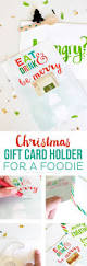 how to make a christmas gift card holder for a foodie printable
