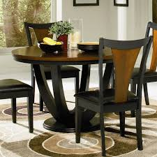 Coaster Dining Room Furniture Coaster Furniture 102091 Boyer Round Dining Table In Black Cherry