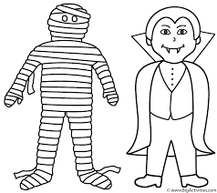 mummy face coloring pages mummy with vampire coloring page