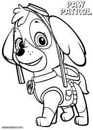 skye coloring pages coloring