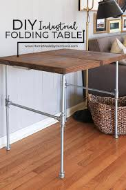 small sturdy folding table diy industrial folding table home made by carmona