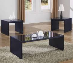 coffee table captivating black modern coffee tables sets black