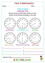 class 2 maths time u0026 date worksheets