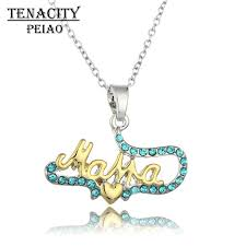 s day jewelry gifts tenacity peiao necklace gold letters necklace heart