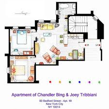 check out this artist u0027s super cool floorplans of famous tv homes