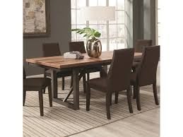 coaster dining room table coaster spring creek dining table with 18 extension leaf