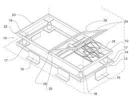 patent us7146662 self leveling bed support frame google patents