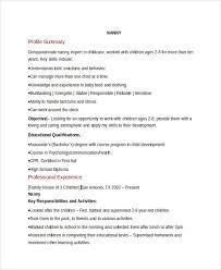 nanny skills resume nanny job seeking tips nanny resume without