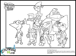 phineas and ferb coloring pages online coloring pages online kids