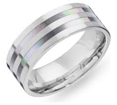 ring titanium buy revere men s titanium of pearl ring at argos co uk