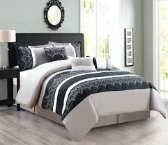 Mainstays Bedding Sets Black And White Floral Comforter Set Queen Mainstays Bed In A Bag