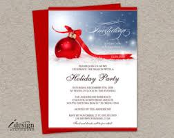 corporate holiday party invitation with company logo diy