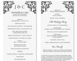 word template for wedding program wedding program template word ayudapsicologicaci