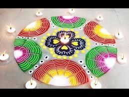 rangoli decoration beautiful easy rangoli design learn how to make diwali special