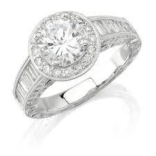 engagement rings with baguettes natalie k 14k white gold halo baguette e