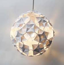 Origami Light Fixture This One Is Great Too Craft Ideas Pinterest Paper Light