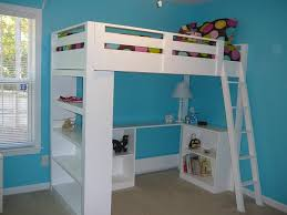 Bunk Beds Lofts White Loft Bed Small Bookcase And Desk Diy Projects