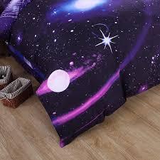 Space Themed Bedding Harajuku Universe Planet Bed Sheet U0026 Duvet Cover Cute Kawaii