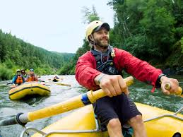 top river rafting trips sunset