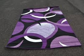 Purple And Black Area Rugs Purple Area Rug With Beautiful Ornament All About Rugs
