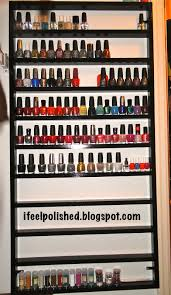 i feel polished diy nail polish rack