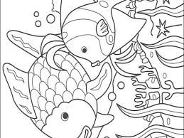 rainbow fish coloring rainbow fish coloring pages sea