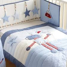 Cot Bed Duvet Cover Boys Little Robot Cot Bed Quilt And Bumper Set Dont Tell Tales Baby