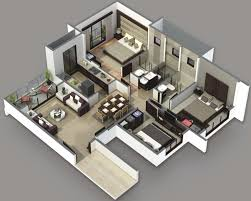 2 Bhk House Plan 3 Bedroom House Plans 3d Design 4 House Design Ideas