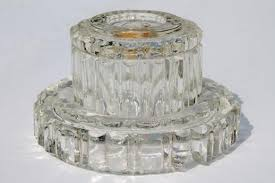Crystal Parts For Chandeliers Pressed Glass Lamp Bases U0026 Parts Lot Bobeches For Crystal