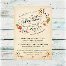 vintage bridal shower invitations printable vintage floral bridal shower invitation digital file