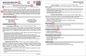 effective resumes tips the anatomy of a modern resume exle best professional resume