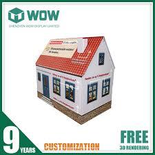 unique design cardboard house for promotion