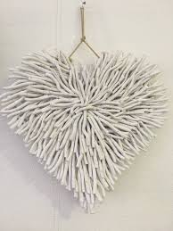 wall decor driftwood heart white daydream leisure furniture