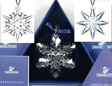 2008 swarovski snowflake ornament ebay