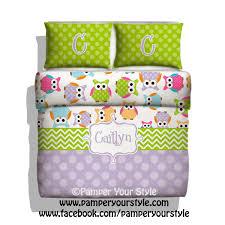 owl bedding custom toddler bedding owl personalized