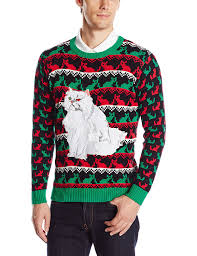 mens light up ugly christmas sweater blizzard bay men s polar bear light up ugly christmas sweater at