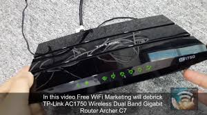 how to debrick tp link archer c7 ac1750 wifi router using tftp