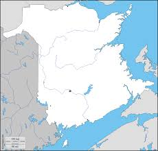 Blank Map Of Canada by New Brunswick Free Map Free Blank Map Free Outline Map Free