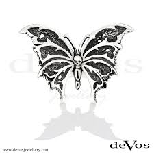 butterfly and skull ring devos jewellery