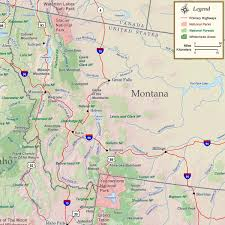 Map Montana Montana National Parks Forests And Wilderness Map Rocky
