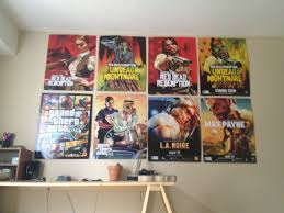 my rockstar games poster collection gaming