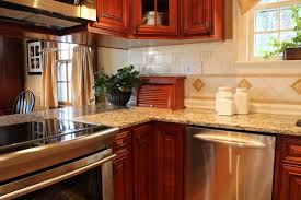 Kitchen Cabinets Columbus Ohio by Cherry With Dark Glaze Kitchen